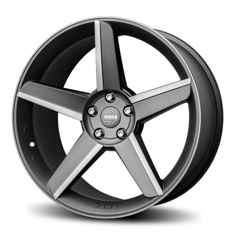 MOMO Stealth Matte Anthracite Road Wheels
