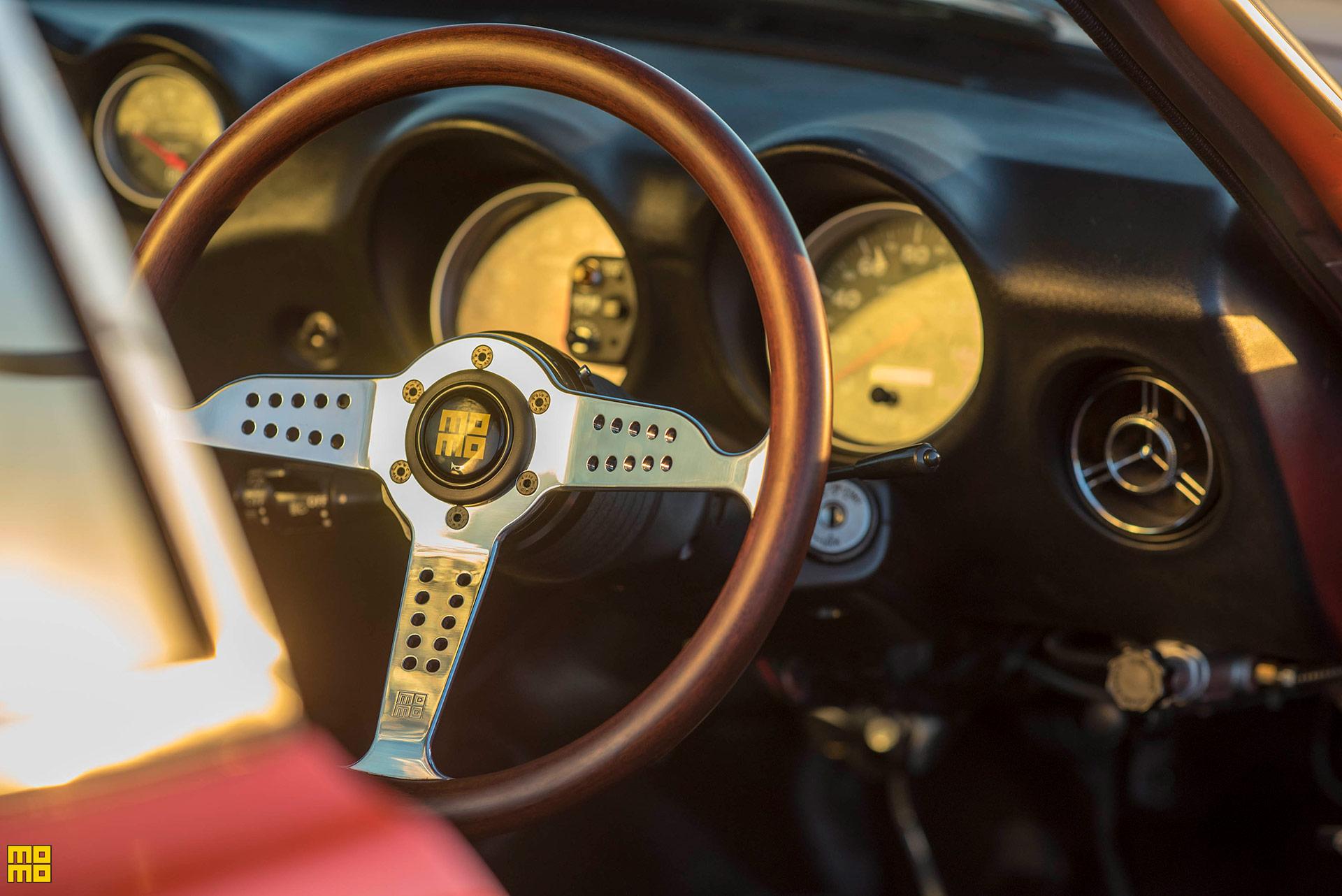 Datsun Fairlady 240Z Featuring a MOMO Super Grand Prix Steering Wheel