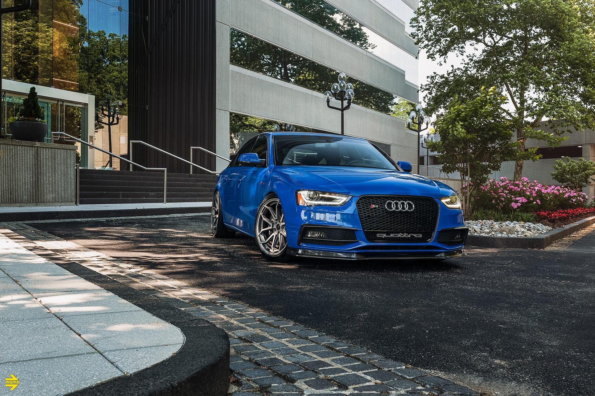 We Give A Nogaro Blue Audi S4 A Set Of MOMO RF-5C Wheels
