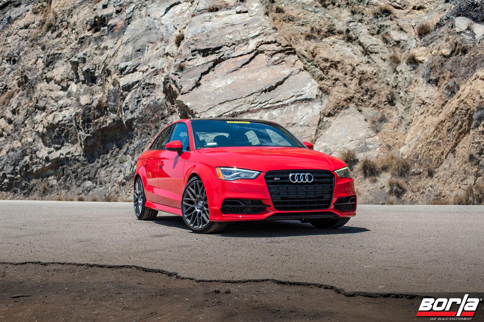 Tango Red Audi S3 Sedan – MOMO Revenge Wheels in Gunmetal