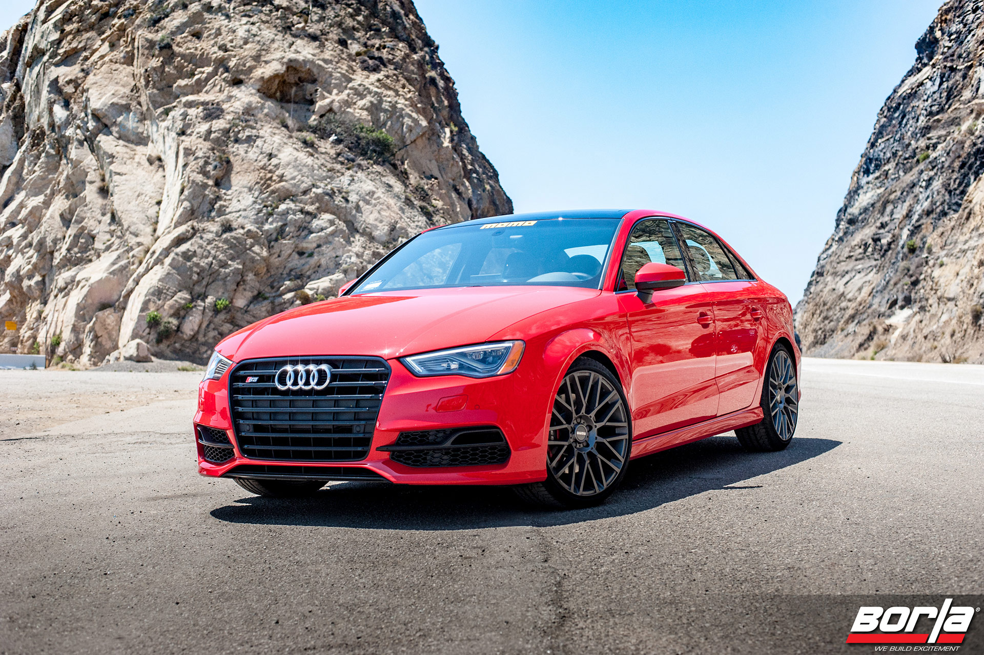 Red Audi S3 – MOMO Revenge Wheels in Gunmetal