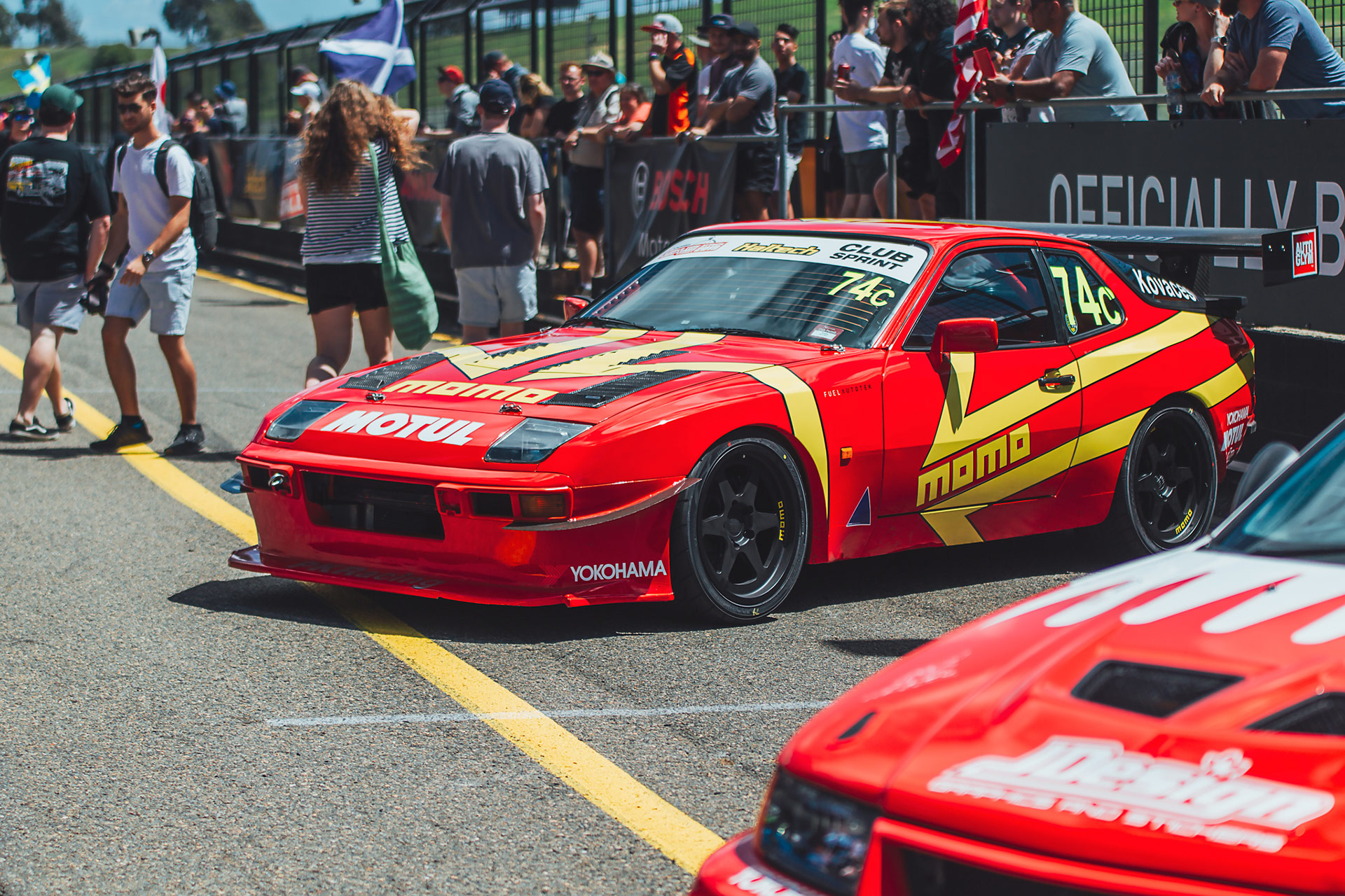 MOMO Livery Porsche 944 Race Car From PKRacing, an Australian Race Team