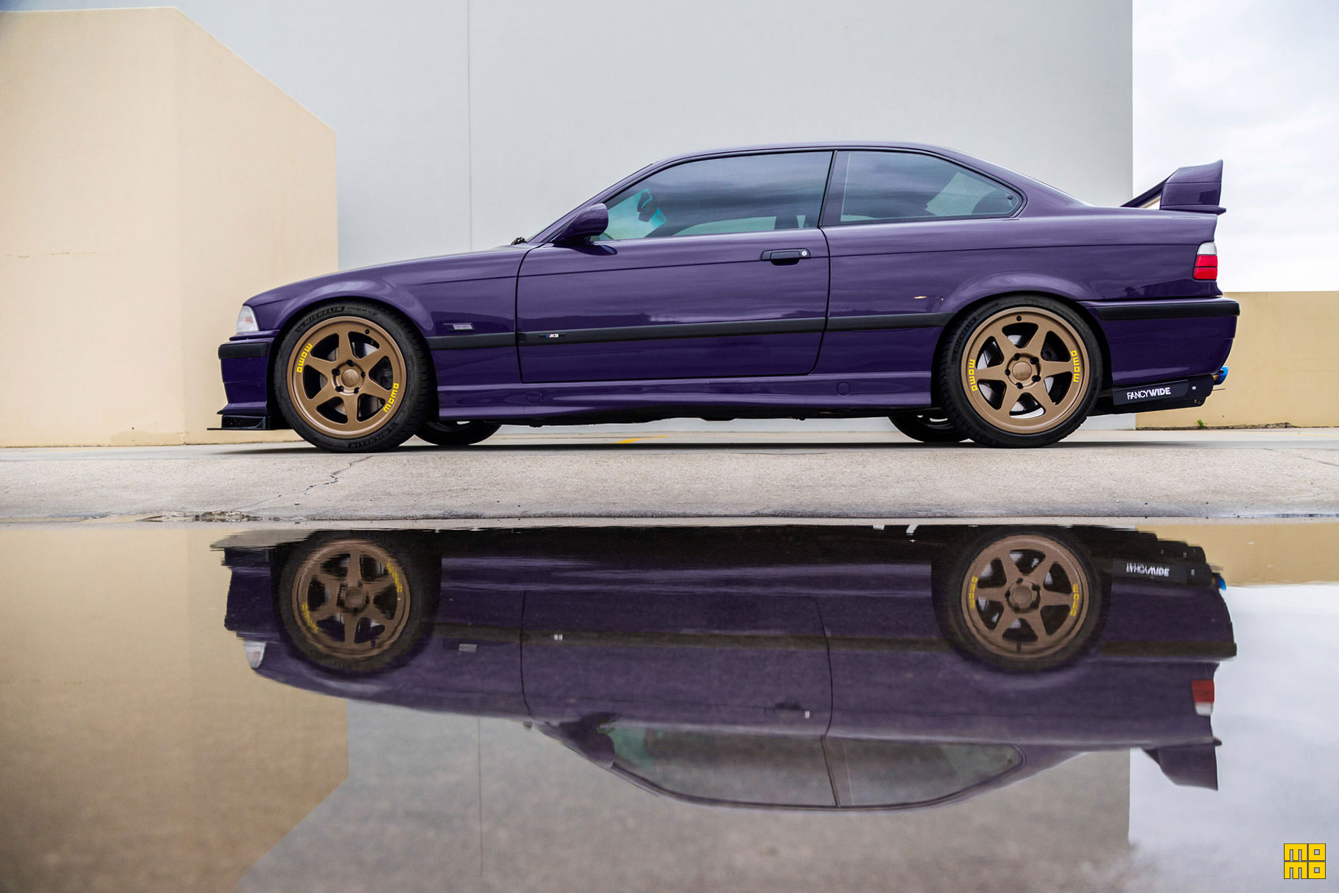 Purple BMW e36 M3 - MOMO Heritage 6 Wheels in Gloss Bronze