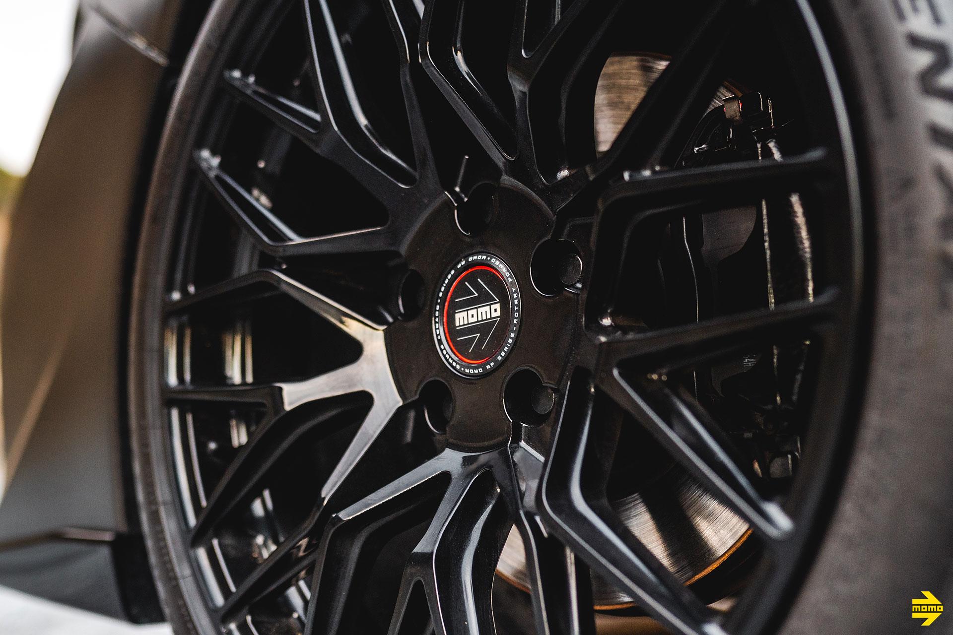 Metallic Rootbeer Brown Subaru WRX Evo Eye - MOMO Catania Wheels in Gloss Black