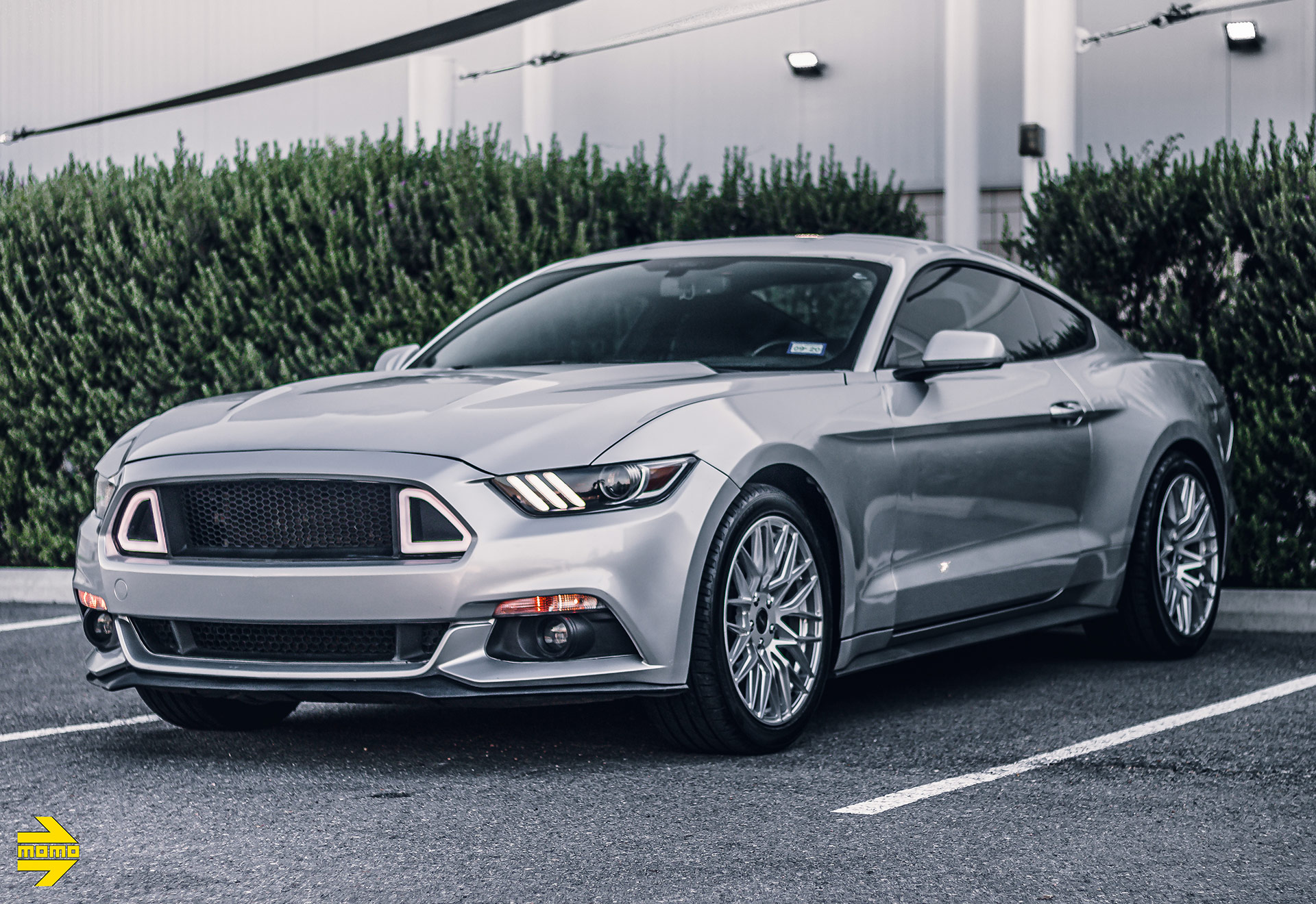 Iconic Silver Ford Mustang With MOMO Catania Wheels
