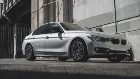 Silver BMW 3 Series - MOMO Revenge Wheels in Gunmetal