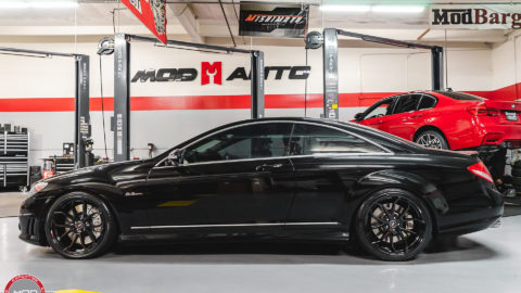 Black Mercedes CL63 AMG - MOMO RF5C Wheels in Gloss Black