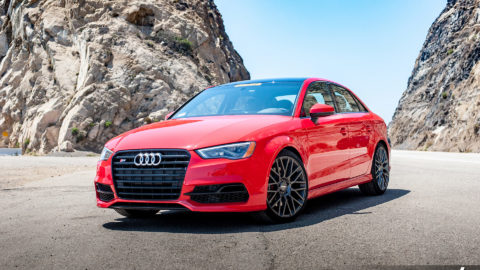Red Audi S3 - MOMO Revenge Wheels in Gunmetal