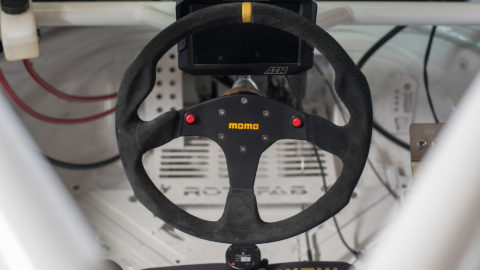 Red Bisimoto Twin Turbo Porsche Boxster - MOMO MOD. 30 Steering Wheel With Buttons