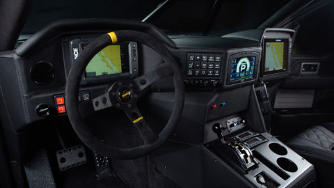 Camo Jimco Fastball Ford PreRunner - MOMO Camlock Restraints - MOMO MOD.07 Steering Wheel